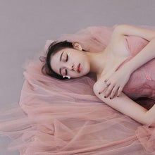 Load image into Gallery viewer, Cute Pink Tulle Long Prom Dress, Pink Evening Dress - DelaFur Wholesale