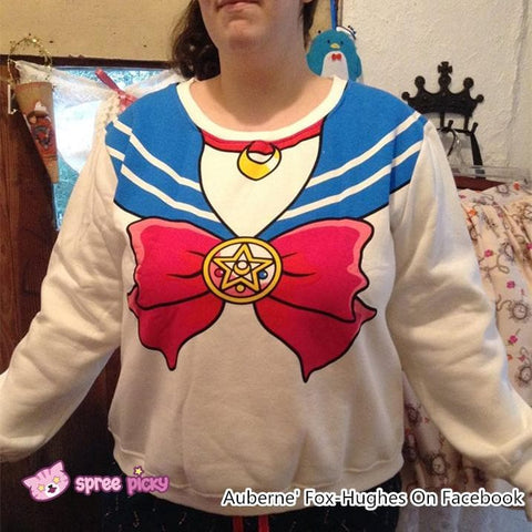 [M/XL]Sailor Moon Sweater Fleece Jumper SP130203 - SpreePicky  - 8