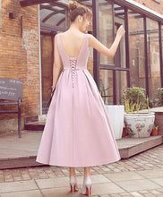 Load image into Gallery viewer, Stylish Pink V Neck Short Prom Dress, Cheap Evening Dress - DelaFur Wholesale