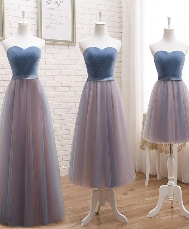 Cute Tulle Sweetheart Neck Prom Dress, Formal Dress - DelaFur Wholesale