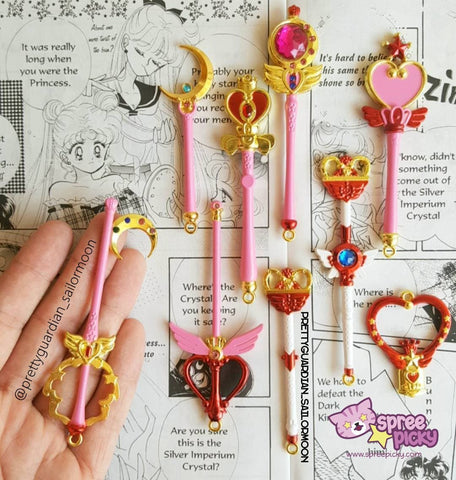 Sailor Moon Magic Wand Key Chain 9 Pieces SP164733