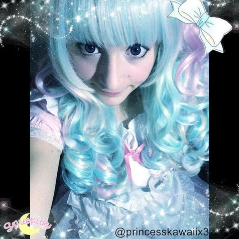 HARAJUKU Lolita Cosplay Candy Bubble 65cm Wig With Pony Tails 3pcs/set SP130188 - SpreePicky  - 1