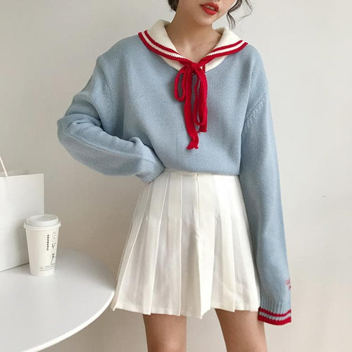 4 Colors Sweet College Wind With Sweater SP14252