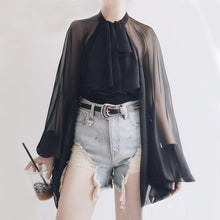 Load image into Gallery viewer, Bowknot Chiffon Blouse Shirt SP14810