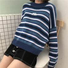 Load image into Gallery viewer, Loose Wild Striped Student Sweater SP14391 - SpreePicky FreeShipping