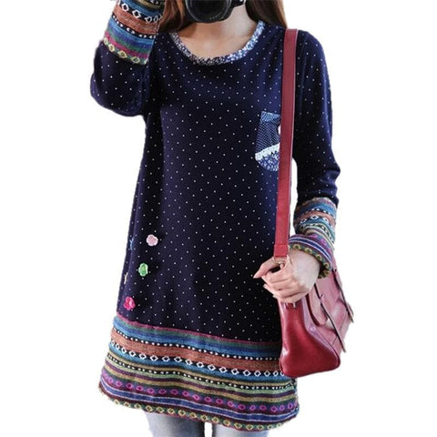 Mori Girl Vintage Fleece Dress SP168368
