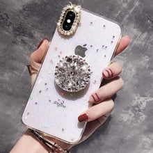 Load image into Gallery viewer, Glitter Marble Diamond  with Ring Holder Phone Case For Iphone  SS067