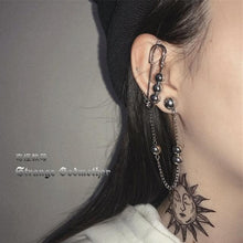 Load image into Gallery viewer, Butterfly Fairy Tassel Elegant Cool Unique Ear Bone Clip Silver Dangle Earrings SS0167