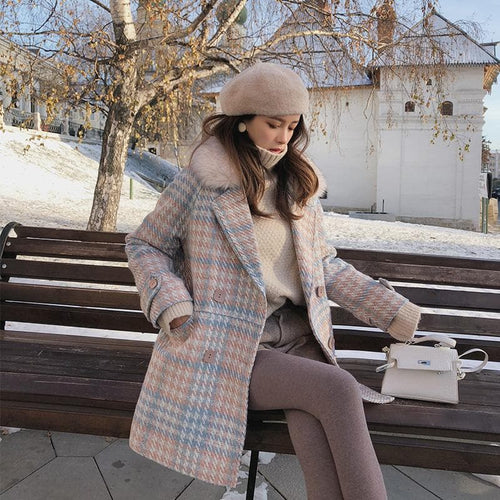Woolen Elegant Double Breasted Winter Coat SP14710