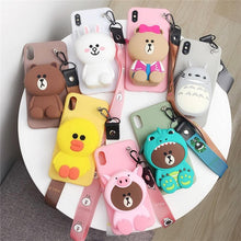 Load image into Gallery viewer, Kawaii Cartoon Coin Purse Phone Case SP14486
