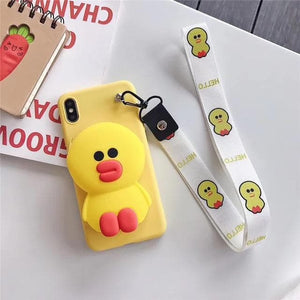 Kawaii Cartoon Coin Purse Phone Case SP14486