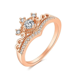 Gold/Silver Crown Ring Alloy  Women's Rings SS073