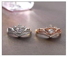 Load image into Gallery viewer, Gold/Silver Crown Ring Alloy  Women's Rings SP14929