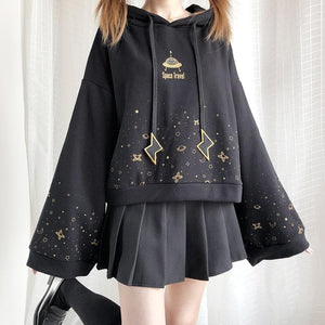 Black Space Travel Hoodie Jumper SP15404