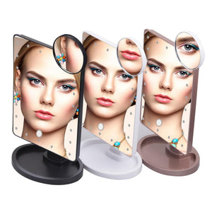 22 LED Lights Touch Screen Makeup Mirror SS0155 - SpreePicky FreeShipping