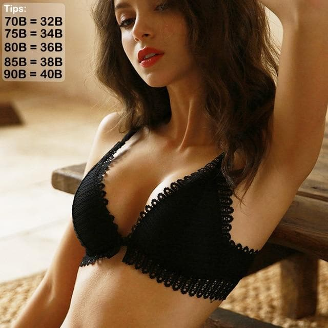 Sexy Lace Wireless Front Closure Bra SS0156