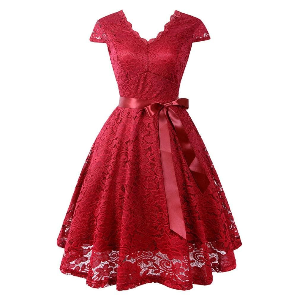 5 Colors Robe Vintage Lace Dress SP14458