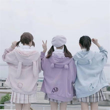 Load image into Gallery viewer, Pink/Purple/Blue Cute Ear Cap Hoodie Coat SS0264