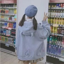 Load image into Gallery viewer, Pink/Purple/Blue Cute Ear Cap Hoodie Coat SP14928