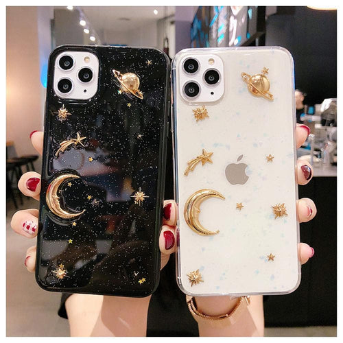 Bling Glitter Stars Moon Planet Phone Case SS0212