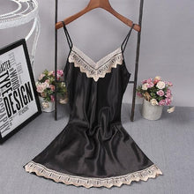 Load image into Gallery viewer, V-Neck Lace Homewear Night Dress SP14655