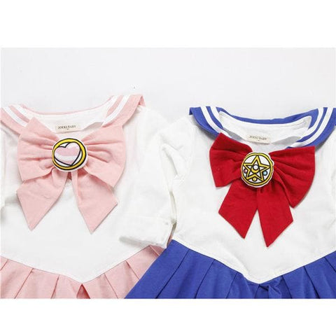 Kids Girls Sailor Moon Cosplay Seifuku Costume Princess Dress SP168347