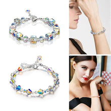 Load image into Gallery viewer, Sparkling Aurora Crystals Link Chain Stretch Bracelet SP15673 - SpreePicky FreeShipping