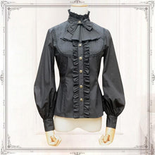 Load image into Gallery viewer, Black/White Lace Elegant Princess  Ladies Lolita Blouses SP167053