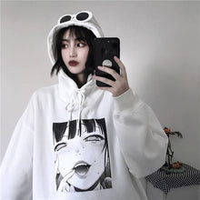 Load image into Gallery viewer, Gothic Harajuku Streetwear Ahegao Manga Girl Oversized Hoodie SP053