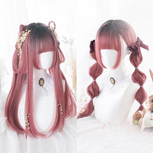 Load image into Gallery viewer, Black Mixed Pink Ombre Lady Cosplay Wig SS0303