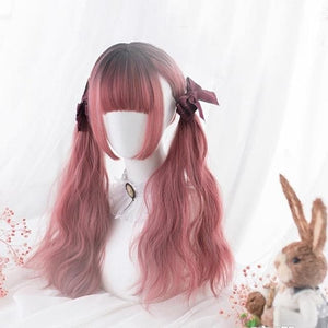 Black Mixed Pink Ombre Lady Cosplay Wig SS0303