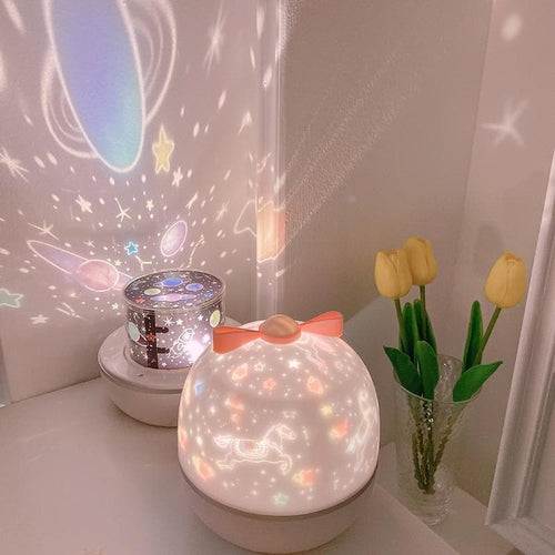 Romantic LED Rotating Music Projector Starry Night Light SS0293