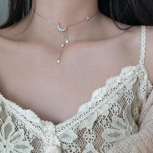 Load image into Gallery viewer, Sweet Silver Color Star Moon Tassel Necklaces SP15480 - Harajuku Kawaii Fashion Anime Clothes Fashion Store - SpreePicky