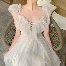 Load image into Gallery viewer, Puffy Fairy Off Shoulder Lace Dress SP14897