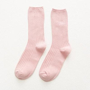 Colorful Retro Women Lady Cotton Loose Socks SP15251