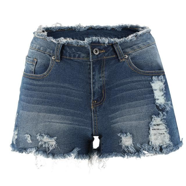 6 Colors Ripped Denim Shorts SP14836