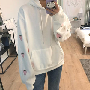 Blue/Purple/White Strawberry Hoodie Jumper SS0260