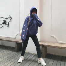 Load image into Gallery viewer, Blue/Purple/White Strawberry Hoodie Jumper SP14915