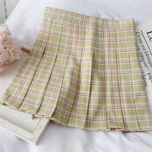 Sweet Preppy Style Plaid Skirt SP14829
