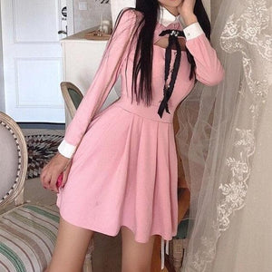 Black/Pink Chic Vintage Dress SP14831