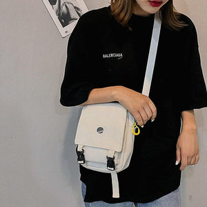 Cartoon Planet Embroidered Canvas Shoulder Bag SS0284
