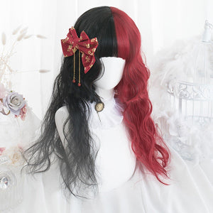 65CM Black Mixed Red Gothic Lolita Cosplay Wig SP14847