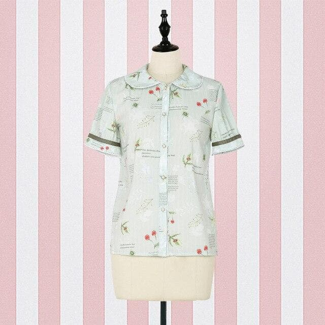 Lolita Peter Pan Collar Blouse Shirt & Suspender Skirt SP14888