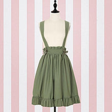 Load image into Gallery viewer, Lolita Peter Pan Collar Blouse Shirt & Suspender Skirt SP14888