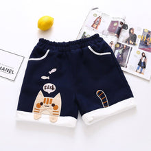 Load image into Gallery viewer, Sweet Cat Eat Fish Elastic Waist Shorts SP14845