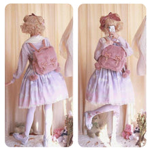 Load image into Gallery viewer, Lolita style Kawaii Plush Coral Bowknot Backpack SS0678