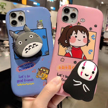 Load image into Gallery viewer, Silicone stand Spirited Away Totoro soft Mobile phone case SS0327
