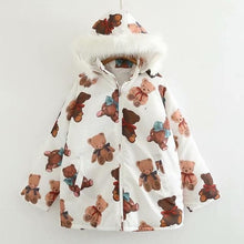 Load image into Gallery viewer, Kawaii Cartoon Bear Print Winter Padded Coat SP15268