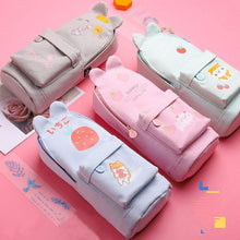 Load image into Gallery viewer, Kawaii Rabbit Cat Canvas Pencil Bag SP14923