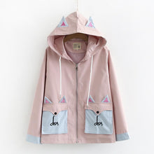 Load image into Gallery viewer, Sweet Cartoon Fox Embroidery Zipper Coat SP15081